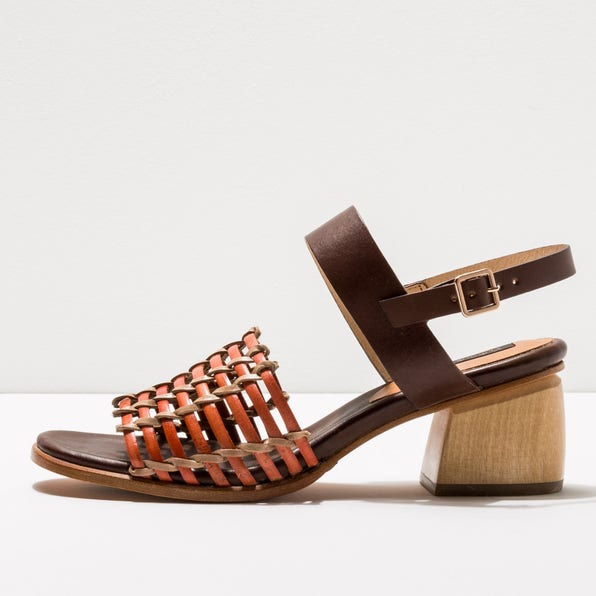 S3145 BRAIDED BROWN-CORAL / VERDISO